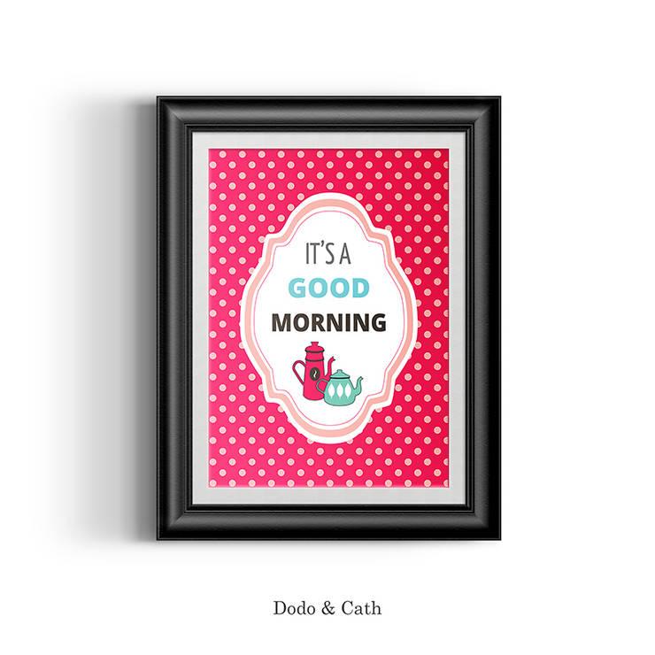 Affiche morning red: Cuisine de style  par Dodo & Cath