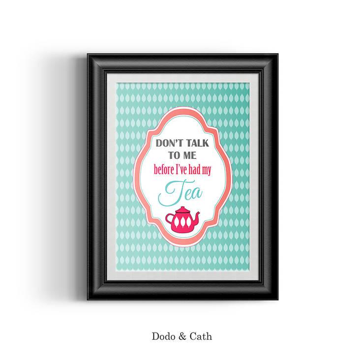 Affiche Tea: Cuisine de style  par Dodo & Cath