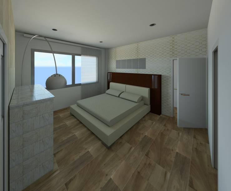 PROYECTO VIVIENDA UNIFAMILIAR: Dormitorios de estilo  de MIMESIS INTERIORISMO SL