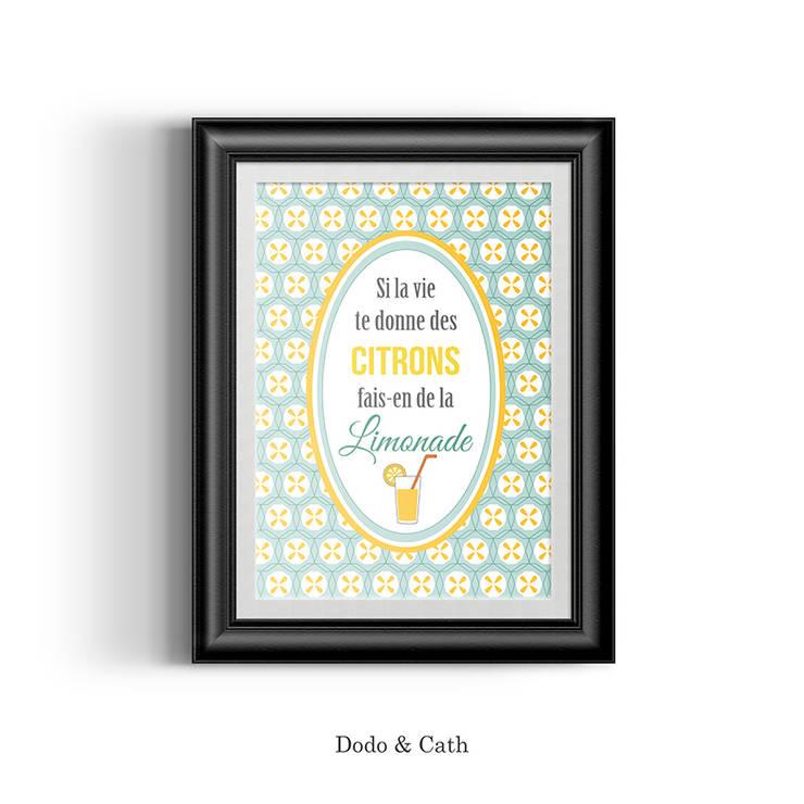Affiche Citrons: Chambre de style  par Dodo & Cath