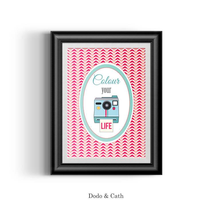 Affiche Colour: Salon de style  par Dodo & Cath