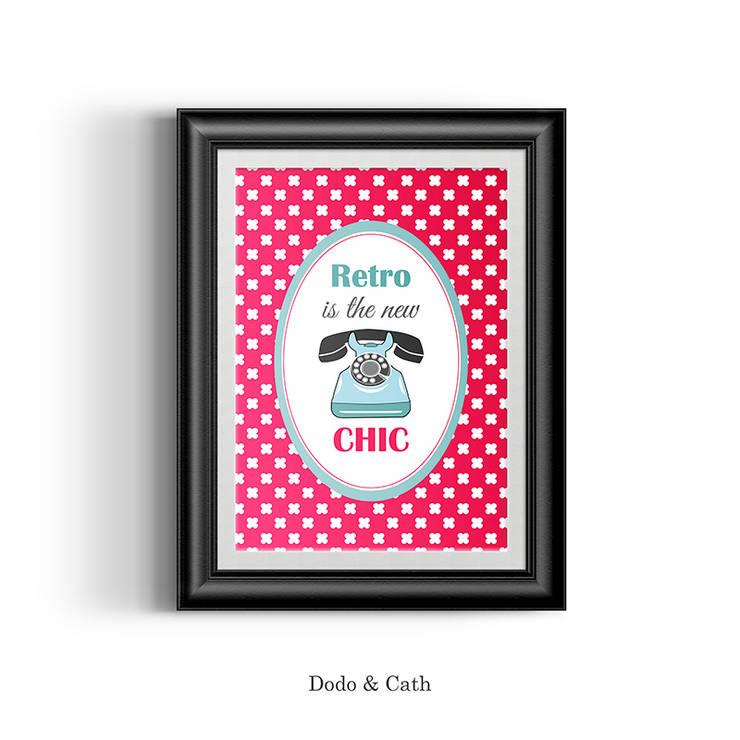 Affiche Rétro: Salon de style  par Dodo & Cath