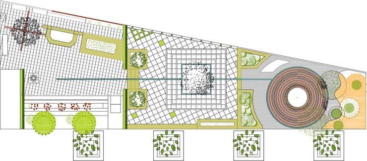 plano en planta/proyecto Aravaca(Madrid):  de estilo  de Jardines secretos
