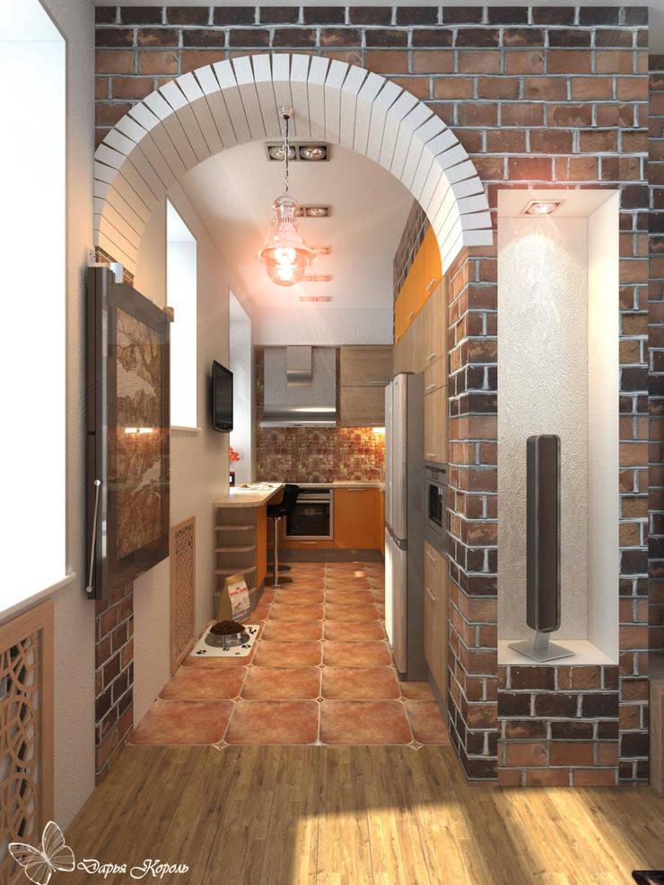 Loft style living room in an old house: Кухни в . Автор – Your royal design