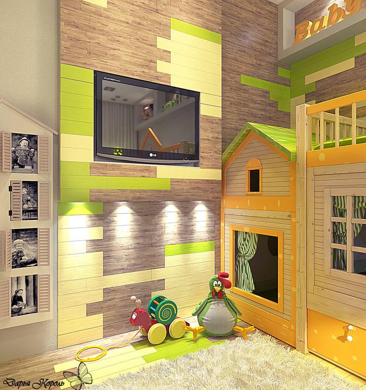 Children's room with bright parquet: Детские комнаты в . Автор – Your royal design,