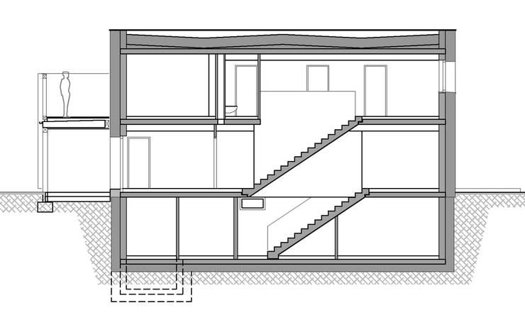 Längsschnitt:   von Abendroth Architekten