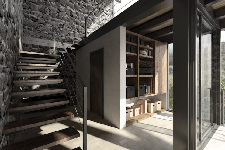 NATURAL LIGHT DESIGN STUDIO – House In Guatemala:  tarz Koridor ve Hol, Modern