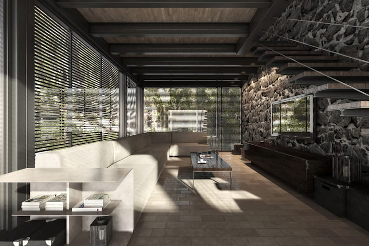 NATURAL LIGHT DESIGN STUDIO – House In Guatemala:  tarz Multimedya Odası, Modern
