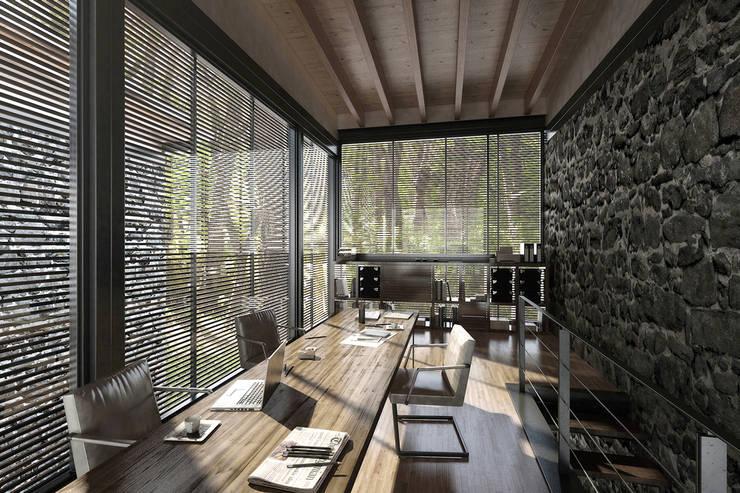 NATURAL LIGHT DESIGN STUDIO – House In Guatemala:  tarz Çalışma Odası