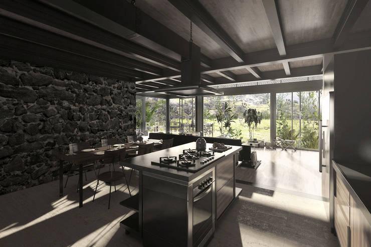 NATURAL LIGHT DESIGN STUDIO – House In Guatemala: modern tarz Mutfak