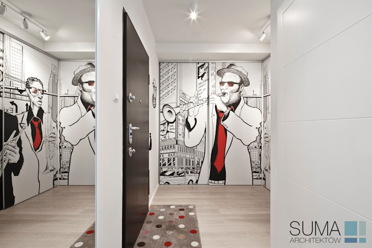 MODERN ONE: styl , w kategorii Korytarz, przedpokój zaprojektowany przez SUMA Architektów
