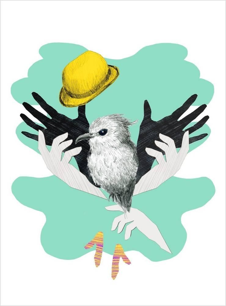 Tapis Birdy - Delphine Chopard: Murs & Sols de style  par Galerie B