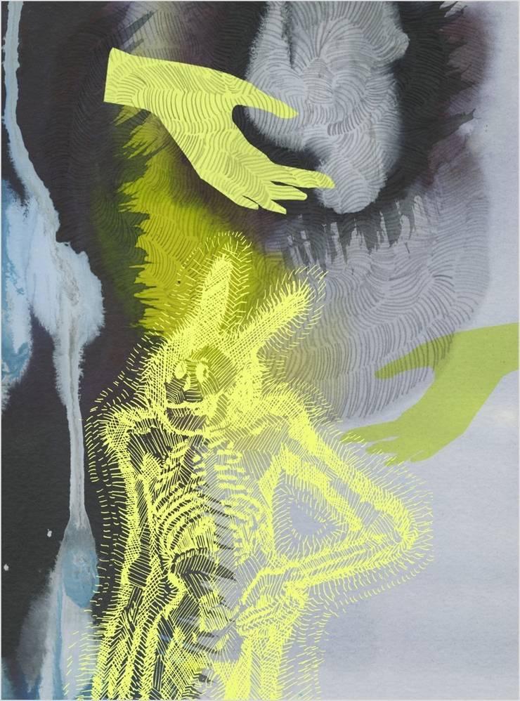 Tapis Ursule - Delphine Chopard: Murs & Sols de style  par Galerie B