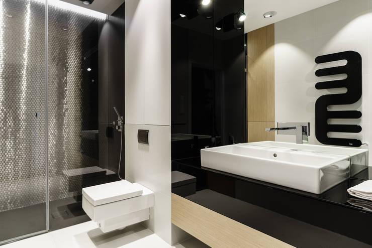 łazienka : styl , w kategorii Łazienka zaprojektowany przez Anna Maria Sokołowska Architektura Wnętrz
