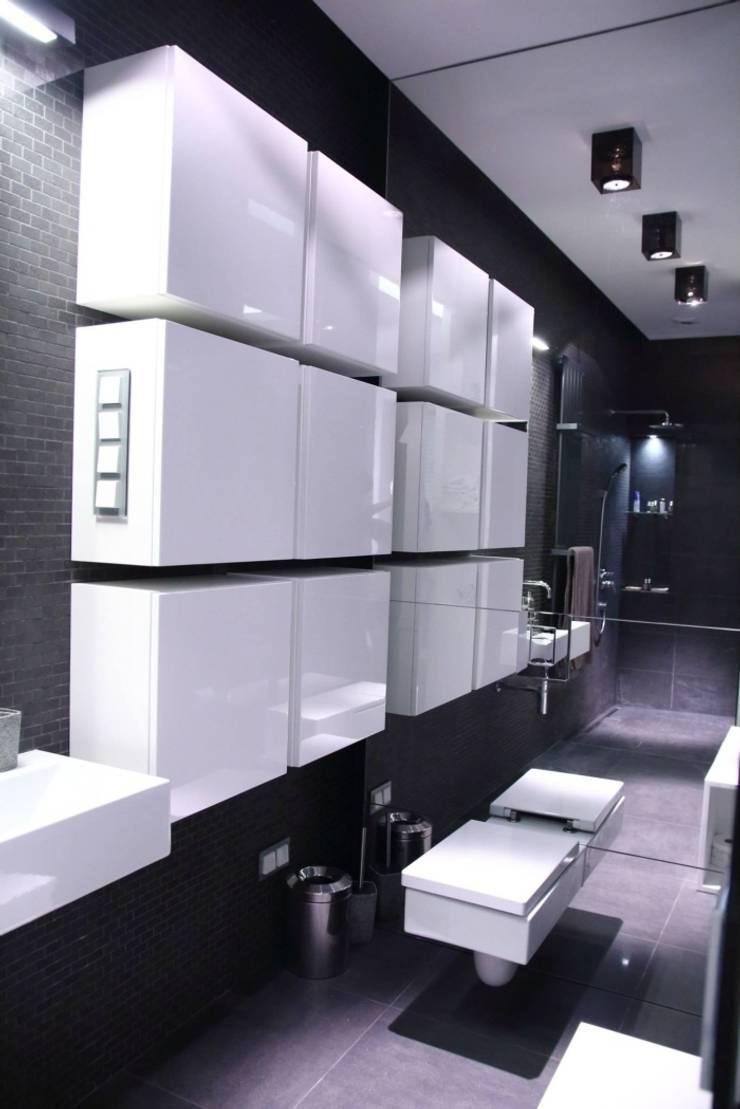 apartament Warszawa Mokotów: styl , w kategorii Łazienka zaprojektowany przez SHOQ STUDIO Architektura i wnętrza