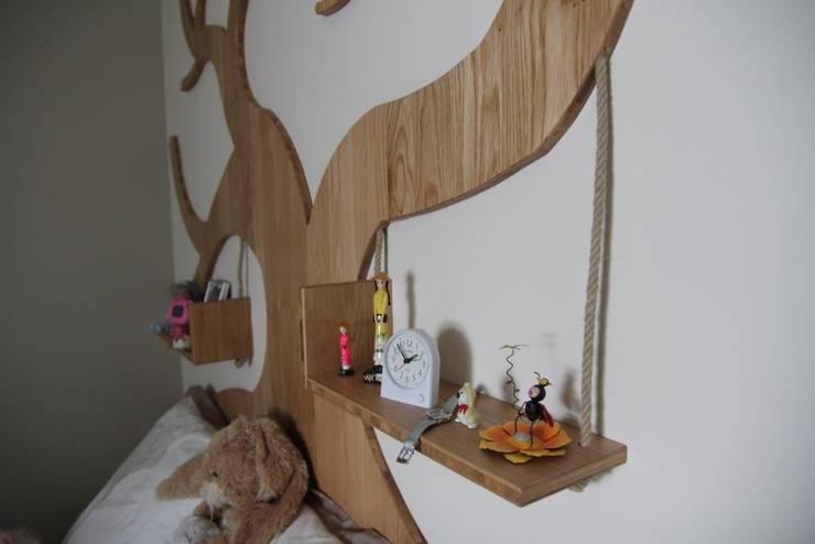 Détail du lit: Chambre d'enfants de style  par Noémie Vernet