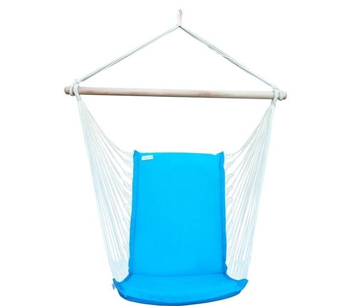 Silla Colgante Brasileña Azul Turquesa con Respaldo: Jardín de estilo  de Brasilchic
