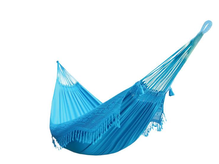 Hamaca Colgante Doble Brasileña Azul Turquesa: Hogar de estilo  de Brasilchic