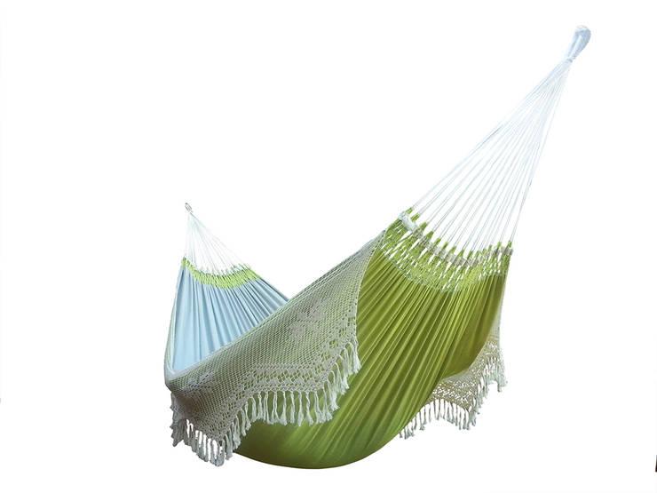 Hamaca Colgante Doble Brasileña Verde Suave: Hogar de estilo  de Brasilchic