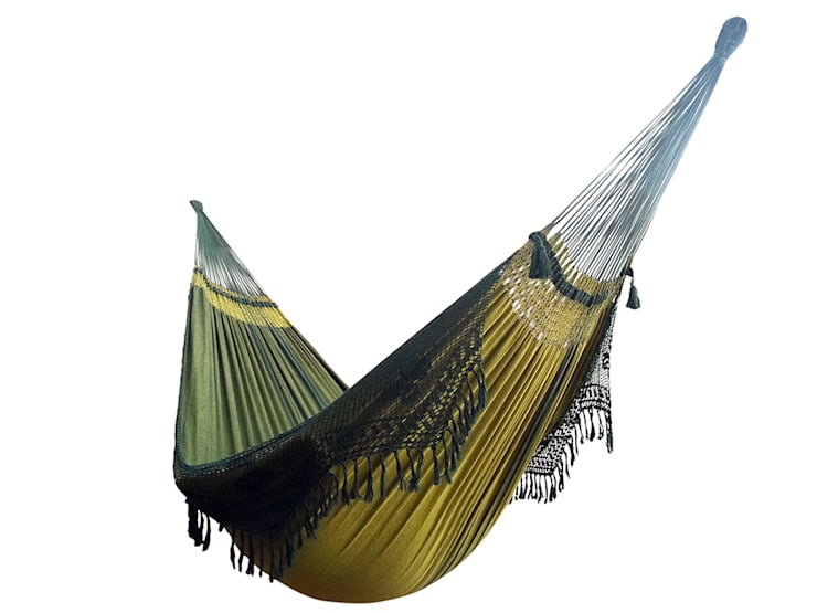Hamaca Colgante Familiar Brasileña de Diseño Verde: Hogar de estilo  de Brasilchic