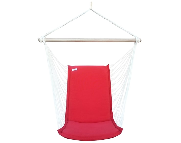 Silla Colgante Brasileña Roja con Respaldo: Jardín de estilo  de Brasilchic
