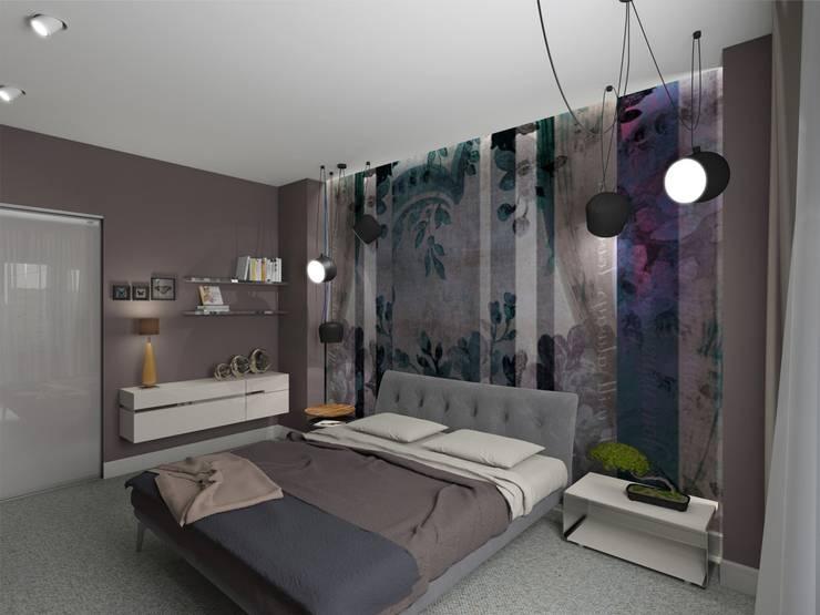 Спальня. Визуализация интерьера.: Спальни в . Автор – Aleksandra  Kostyuchkova