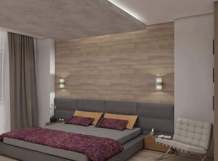 Дизайн спальни с гардеробной комнатой.: Спальни в . Автор – Aleksandra  Kostyuchkova