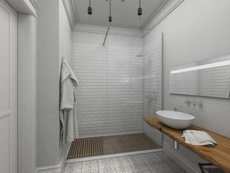 Ванная комната. Проект  <q>Французское настроение</q>.: Ванные комнаты в . Автор – Aleksandra  Kostyuchkova