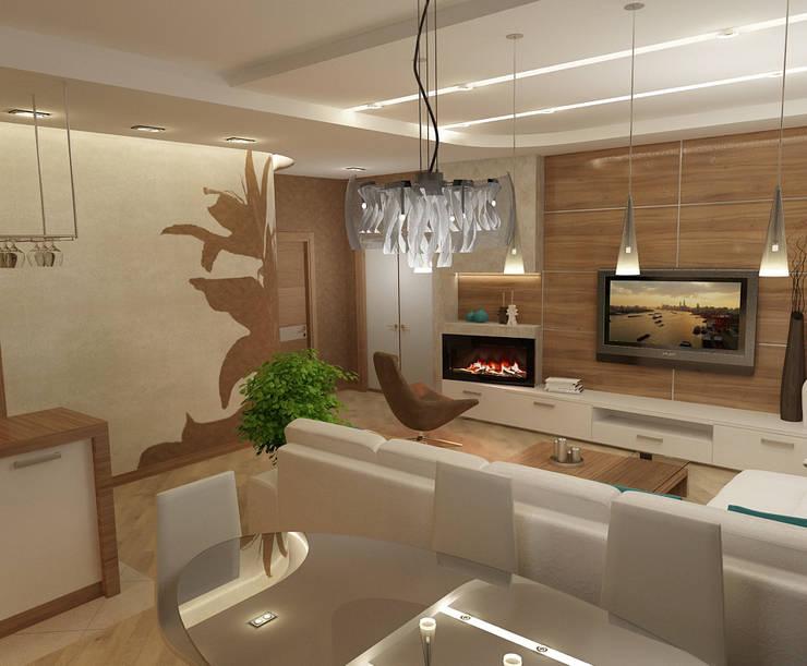 Кухня-гостинная: Гостиная в . Автор – Efimova Ekaterina, Модерн