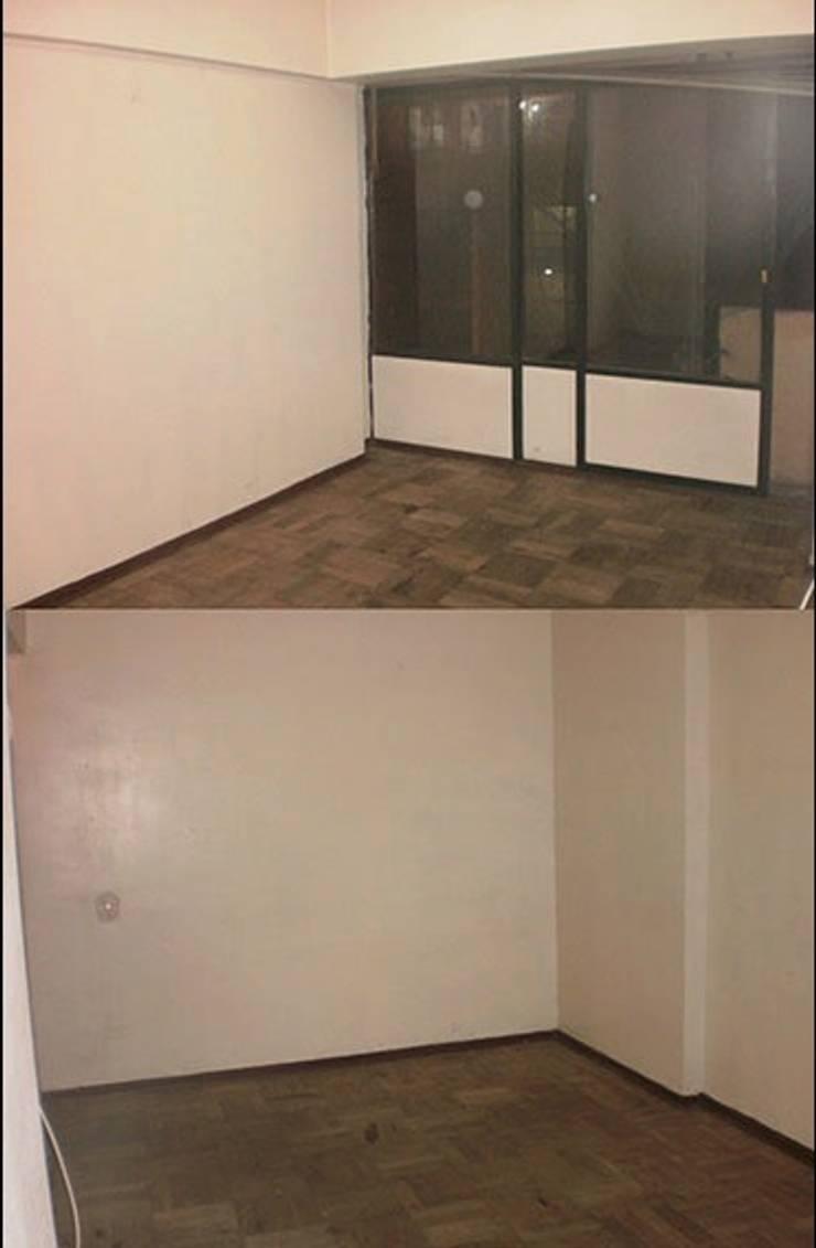 El salón antes:  de estilo  de Estar Design