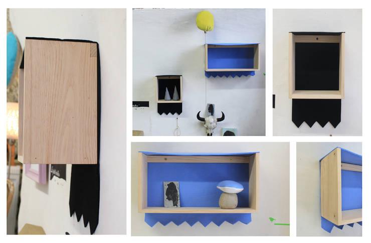 Collection Wood & Wool _ETA_a: Salon de style  par Atelier jeux de lin