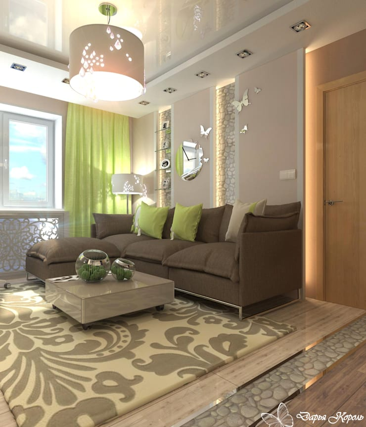 living room: Гостиная в . Автор – Your royal design