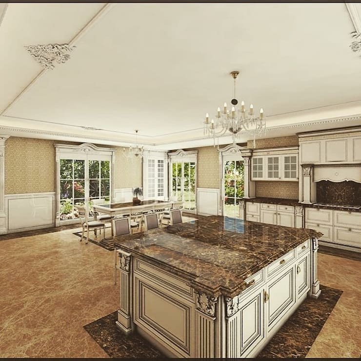 Nuevo Tasarım – Klasik villa projesi: klasik tarz tarz Mutfak