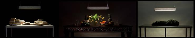 lampa Betonówa: styl , w kategorii Salon zaprojektowany przez Natural Born Design