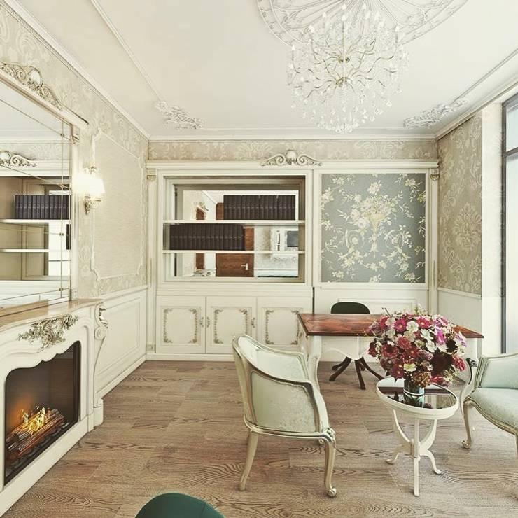 Nuevo Tasarım – Klasik villa projesi:  tarz Çalışma Odası