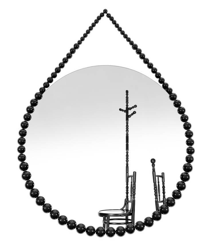 Bead Mirror:  Woonkamer door Vroonland