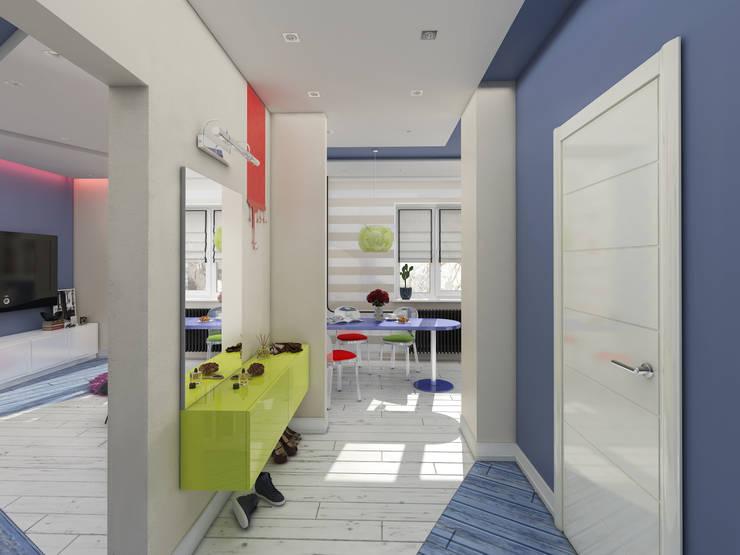 Однокомнатная квартира в стиле поп-арт: Коридор и прихожая в . Автор – EEDS design