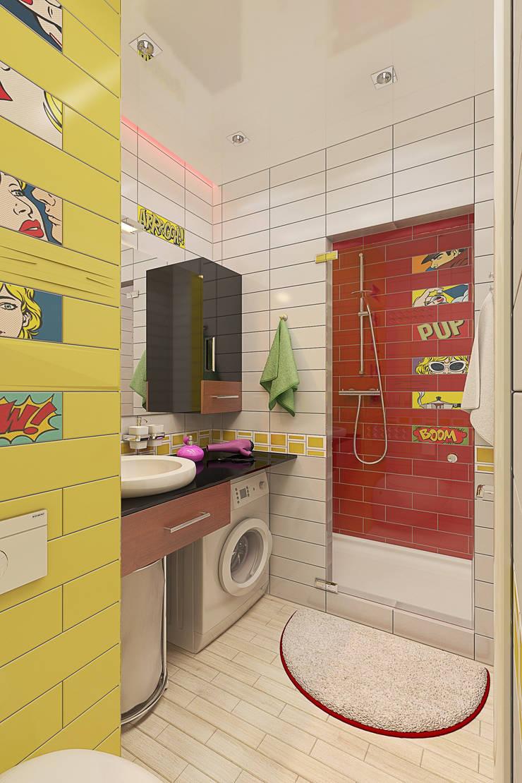 Однокомнатная квартира в стиле поп-арт: Ванные комнаты в . Автор – EEDS design