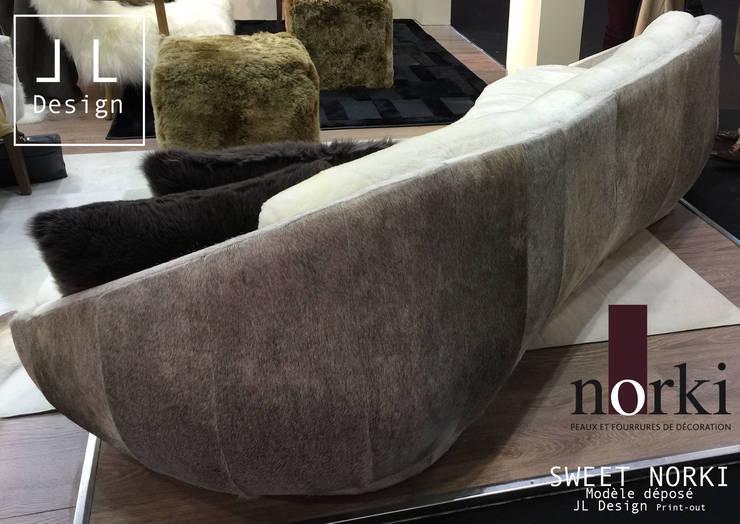 SOFA SWEET NORKI : Salon de style  par Print-out / james lenglin design