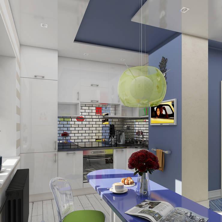 Однокомнатная квартира в стиле поп-арт: Кухни в . Автор – EEDS design