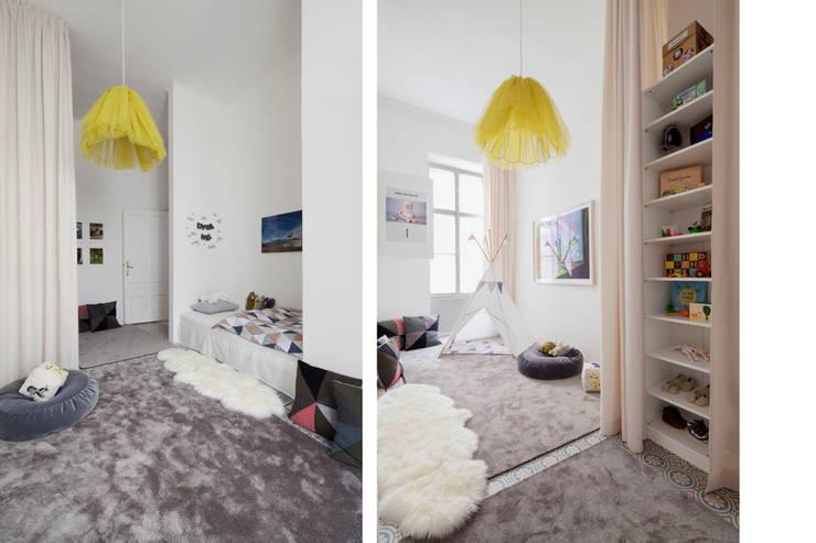 modern Nursery/kid's room by destilat Design Studio GmbH