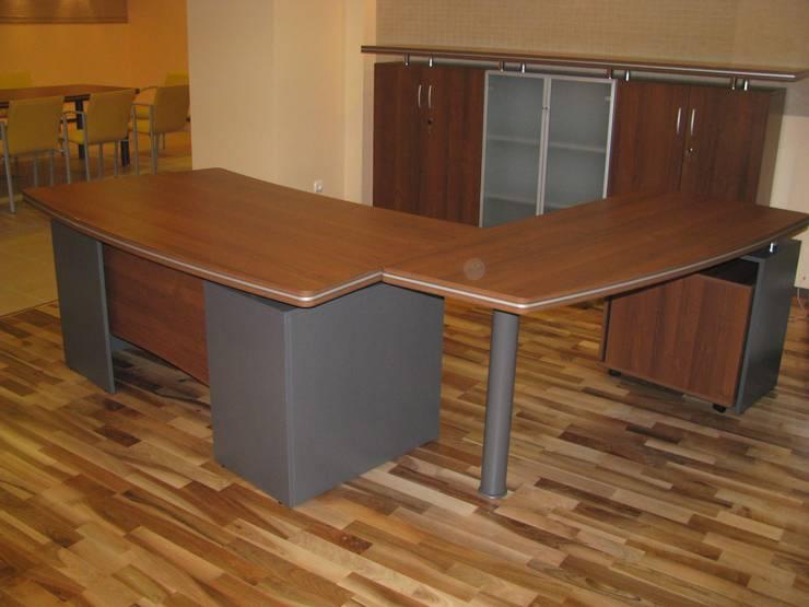 Gabinet: styl , w kategorii Pomieszczenia biurowe i magazynowe zaprojektowany przez Akson Meble Biurowe
