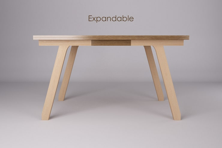 Expandable Dining Table:  Dining room by FOKUR.Objects