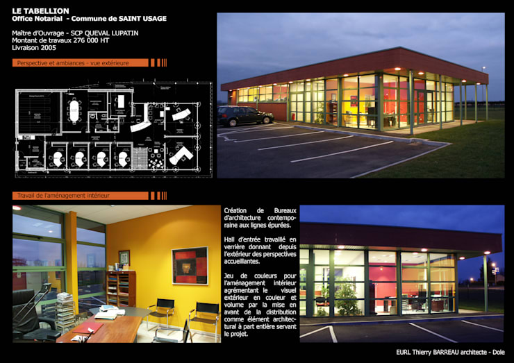 Projet Tabellion: Bureaux de style  par Thierry Barreau Architecte