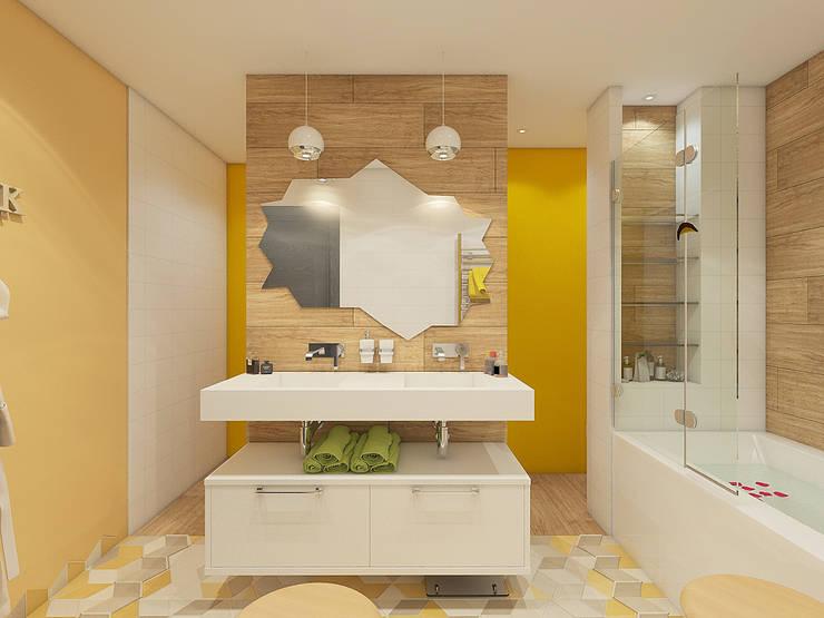 Квартира в экостиле в Санкт-Петербурге: Ванные комнаты в . Автор – olegkurgaev design