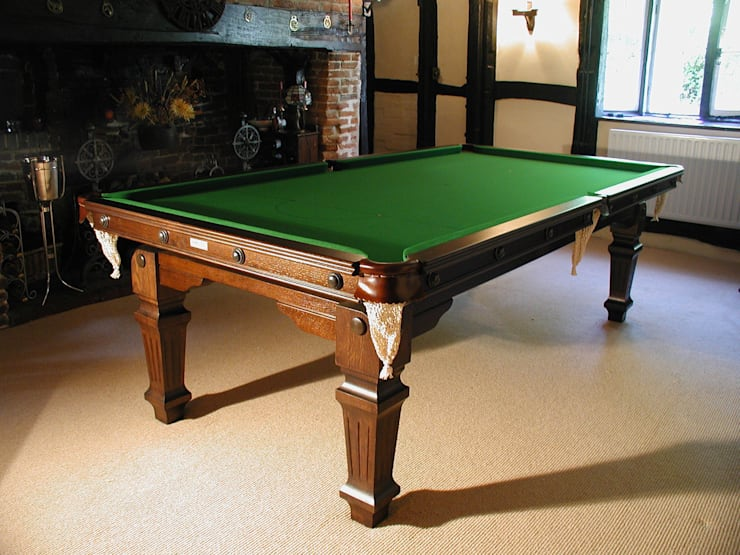 8 ft Heston Convertible Dining Table:  Dining room by HAMILTON BILLIARDS & GAMES CO LTD