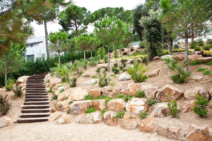 Jardín Costa Brava 2: Jardines de estilo  de JARDÍ PEDRA I ARIDS S.L.