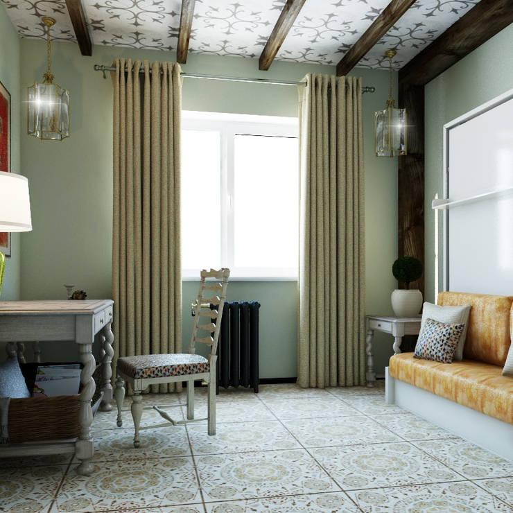 Проект дома в испанском стиле.: Спальни в . Автор – Частный дизайнер и декоратор Девятайкина Софья