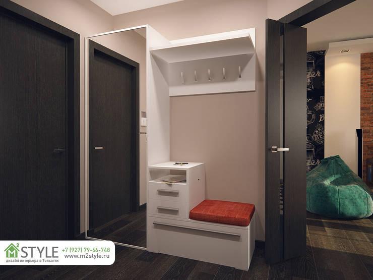 Квартира «Арт-хаус»: Коридор и прихожая в . Автор – Студия m2style