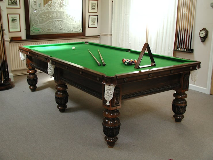 9 ft Carnegie Snooker/PoolTable in ash.:  Dining room by HAMILTON BILLIARDS & GAMES CO LTD